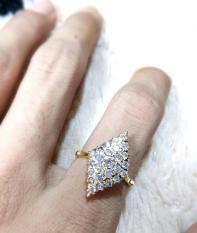 Cincin Emas Berlian Wanita Natural Diamond Asli Eropa Tunangan Nikah Kawin Mewah Murah