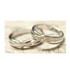 Spesifikasi Cincin Emas Putih 9K Auag Couple Terbaik