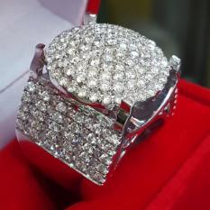 Cincin-Fashion-Berlian-Eropa-3,58ct-ikat-Emas-Putih-CFB008