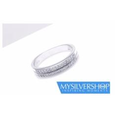 Cincin HEYDI Silver 925 - Berlapis Emas Putih - Size 5
