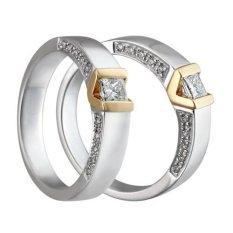 Cincin Kawin Cincin Tunangan Palladium 55% ( Silver - Gold ) - 0993