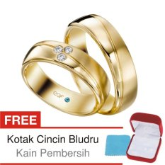 Cincin Kawin Couple Perak Lapis Emas C.18 - Silver Exclusive