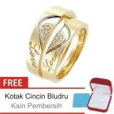 Jual Cincin Kawin Couple Perak Lapis Emas C 26 Silver Exclusive Branded Murah