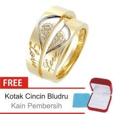 Cincin Kawin Couple Perak Lapis Emas C.26 - Silver Exclusive