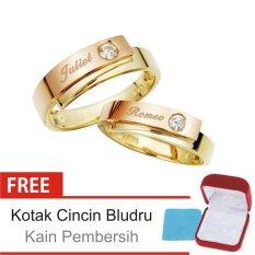 Cincin Kawin Couple Perak Lapis Emas DK.22 - Silver Exclusive