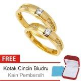 Cuci Gudang Cincin Kawin Couple Perak Lapis Emas E 05 Silver Exclusive