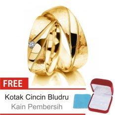 Cincin Kawin Couple Perak Lapis Emas K.12c - Silver Exclusive