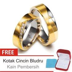 Cincin Kawin Couple Perak Lapis Emas KK.11 - Silver Exclusive