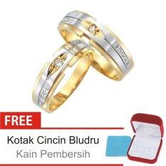 Cincin Kawin Couple Perak Lapis Emas - Rhodium C.21 - Silver Exclusive
