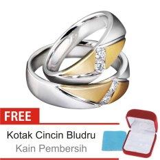 Cincin Kawin Couple Perak Lapis Emas - Rhodium K.26 - Silver Exclusive