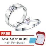 Cincin Kawin Couple Perak Lapis Rhodium A 15 Silver Exclusive Original