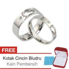 Cincin Kawin Couple Perak Lapis Rhodium G.02 - Silver Exclusive