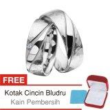 Jual Cincin Kawin Couple Perak Lapis Rhodium K 12 Silver Exclusive Baru