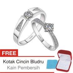 Cincin Kawin Couple Perak Lapis Rhodium RK.26 - Silver Exclusive