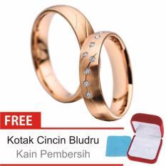 Cincin Kawin Couple Perak Lapis Rosegold D.18 - Silver Exclusive