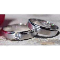 cincin kawin sepasang spesial emas putih 12k