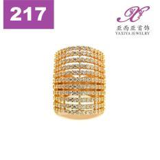 Cincin Lapis Emas Zircon Perhiasan Imitasi Gold 18K Yaxiya Jewelry 217