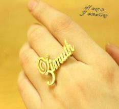 Cincin Nama Lapis Emas NS.05