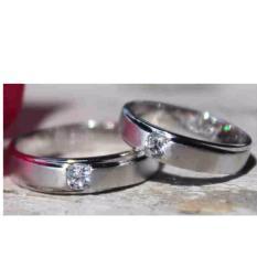 cincin  nikah satupasang palladium 50%