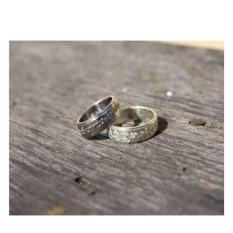 cincin nikah sepasang emas putih kadar 9k