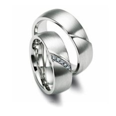 Cincin Palladium Spesial 18Karat dan USA Diamond - Model 401 - Garansi Resmi 1 Tahun