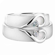 Cincin Palladium Spesial 18Karat dan USA Diamond - Model 408 - Garansi Resmi 1 Tahun