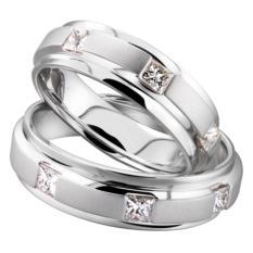 cincin pasangan palladium [ silver ]-0876