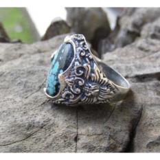 Jnanacrafts Cincin Perak Batu Turquoise