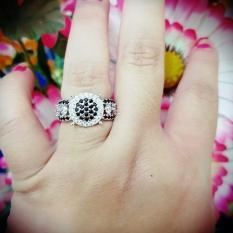 cincin permata batu hitam xuping gold silver