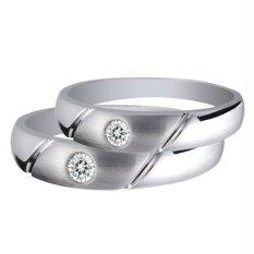 Cincin Pernikahan - Palladium 806 Spesial 18Karat - USA Diamond - Garansi 1 Tahun