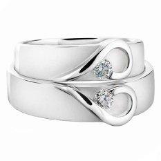 Cincin Pernikahan - Palladium 808 Spesial 18Karat - USA Diamond - Garansi 1 Tahun