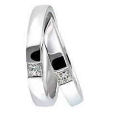 Cincin Pernikahan - Palladium 809 Spesial 18Karat - USA Diamond - Garansi 1 Tahun
