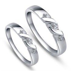 Cincin Pernikahan - Palladium 810 Spesial 18Karat - USA Diamond - Garansi 1 Tahun