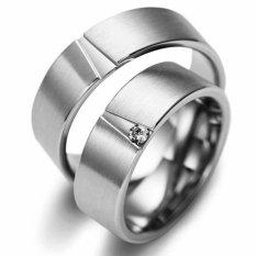 Cincin Pernikahan - Palladium 837 Spesial 18Karat and USA Diamond - Garansi 1 Tahun