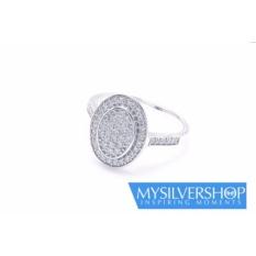 Cincin QUEEN FRIEDA Silver 925 - Berlapis Emas Putih - Size 5