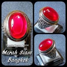 CINCIN RING MERAH SIAM BANGKOK RING PLATINUM SUPER