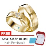 Harga Cincin Tunangan Couple Perak Lapis Emas C 18 Silver Exclusive Merk Cincin Tunangan