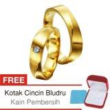 Harga Cincin Tunangan Couple Perak Lapis Emas D 11 Silver Exclusive Di Yogyakarta