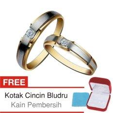 Cincin Tunangan Couple Perak Lapis Emas - Doff CS.10 - Silver Exclusive