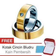 Cincin Tunangan Couple Perak Lapis Emas - Rhodium D.16 - Silver Exclusive
