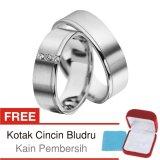 Harga Termurah Cincin Tunangan Couple Perak Lapis Rhodium Doff D 39B Silver Exclusive