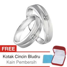 Iklan Cincin Tunangan Couple Perak Lapis Rhodium Doff Rr 02 Silver Exclusive