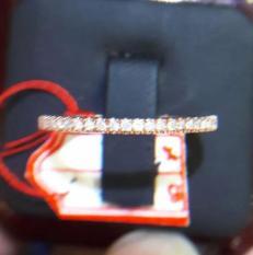 Cincin Tunangan Emas 18K Berlian Asli Putih Kawin Pernikahan Sl056