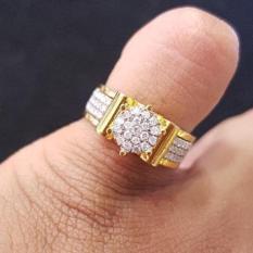 Cincin Tunangan Emas 18K Berlian Eropa Putih Asli Kawin Murah - Svhs1h