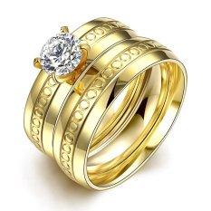 Cincin tunangan palladium istimewa ( gold ) - 0983