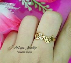 Cincin Ukir Nama Lapis Emas Font Simple Cantik