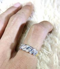 Cincin Wanita Emas Berlian Natural Diamond Eropa Asli Nikah Kawin Tunangan Murah