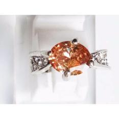 Cincin Wanita Zicone Silver Plated C22 - Oranye