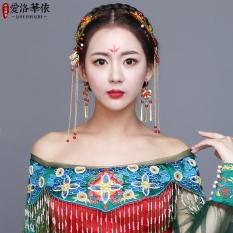 Jual Cinta Los Cina Pengantin Pernikahan Naga Dan Phoenix Gaun Dan Hiasan Kepala Jas Termurah
