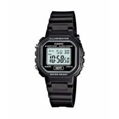 CIPITIHOLIC CASIO LA-20WH-1ADF - Digital - Illuminator - Alarm Chrono - Jam Tangan Unisex - Bahan Tali Resin - Hitam